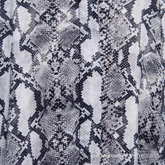 849f59cd Zara Snake Print Full Skirt Shirt Maxi Dress XS
